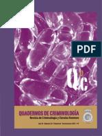 QUADERNOS DE CRIMINOLOGÍA NÚM. 20. Revista de Criminología y Ciencias Forenses, 2013