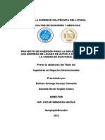 Proyecto de inversión para la implementación de una empresa de lavado de autos a domicilio para la ciudad de guayaquil