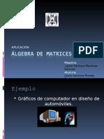ÁLGEBRA DE MATRICES_aplicacion