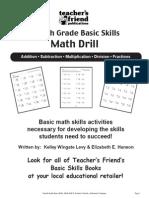 4th Grade Basic Skills Math Drill