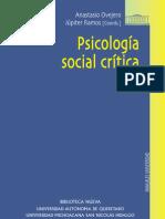 Anastasio Ovejero - Psicologia Social Critica