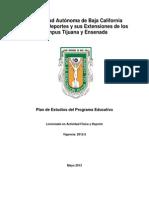 DEPORTES DOCUMENTO LICENCIADO EN ACTIVIDAD FÍSICA Y DEPORTE Mayo 2012