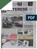 Corrupción y detrimento patrimonial en la administración de Silverio Montaña Montaña, en Aquitania. Periódico Entérese, 17 de abril de 2011