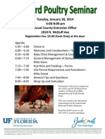 Duval County Agricultural Extension Poultry Class Flyer 1-28-14