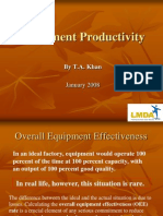 PEC Productivity (Equipment)