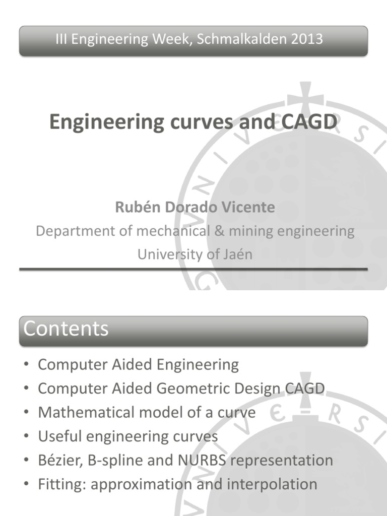 Engineering Curves and CAGD | Computer Aided Design | Curve