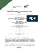 Corrientes Filosóficas de las Ciencias griegas  y la edad media