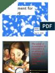 Assessment for Learning presentation on Sep 21