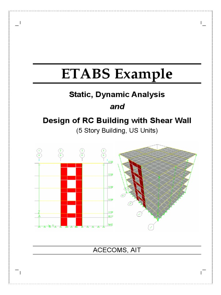 55599352 Etabs Sample TutorEtabsial 69 | Strength Of Materials | Structural  Load