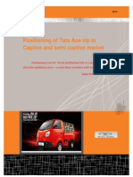 A Study on Positioning of Tata Ace Zip in Captive and Semi Captive Segment