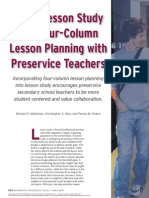 Using Lesson Study and Four Column Lesson Planning With Preservice Teachers(1)