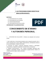 Extracto programaciones didácticas EI 2013-2014
