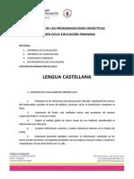 Extracto programaciones didácticas primer ciclo EP 2013-2014