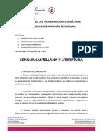 Extracto programaciones didácticas 4º ESO 2013-2014