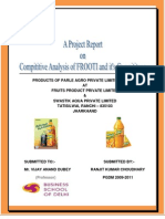 Organisationl Structure of Frooti