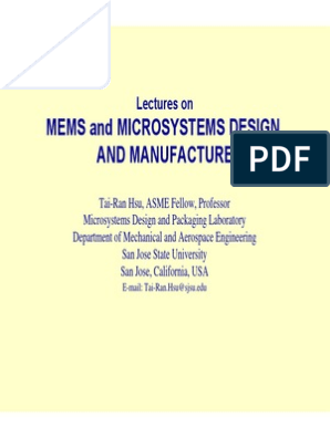 Overview Of Mems And Microsystems Microelectromechanical Systems Integrated Circuit