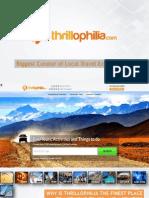 Product Deck of Thrillophilia