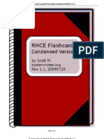 RHCE Flash Cards Condensed