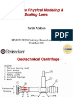 Centrifugal Physical Modeling & Scaling Laws