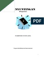 Buku Penyuntingan Syarif for Unj