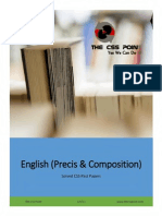 English (Precis & Composition) Solved CSS Papers