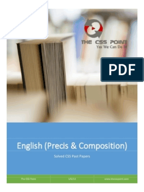 Solved Css Past Papers Of English Precis Composition Book Ii