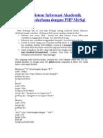 Membuat Sistem Informasi Akademik Sangat Sederhana Dengan Php Mysql Bag