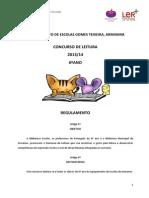 REGULAMENTO CONCURSO de leitura 6ºano_2013.14