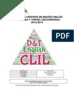 información_SEMINARIO CENTROS BILINGÜES INGLÉS ZARAGOZA Y TERUEL