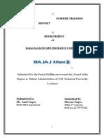 Bajaj Allianz Recuritment Report