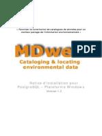 InstallMDweb Windows 1.3 Postgresql Fr