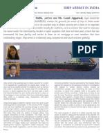 Arresting Ship in India