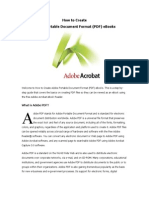 How to Create Adobe PDF Format
