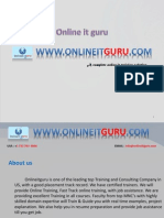 ONLINEITGURU Provides SAP BPC Online Training with 12+ Years Expert , Live Projects..