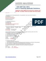 UGC NET Computer Science Solved Paper I
