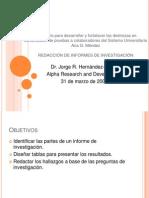 Redacción de informes de investigación ULTIMO TALLER