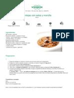 Recetario Thermomix® - Vorwerk España - Lentejas con setas y morcilla - 2011-09-28