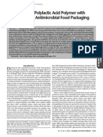 Biodegradable Polylactic Acid Polymer With Nisin for Use in Antimicrobial Food Packaging