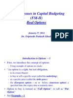 Adv Issues in Cap Budgeting-Real Options