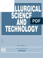 Metallurgical Science and Technology, Vol. 19/1