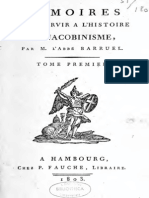 Abbé Barruel - Mémoires pour servir à l'histoire du jacobinisme. Tome I