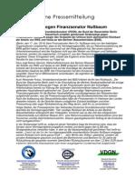Gemeinsame Pressemitteilung vom Verband Deutscher Grundstücksnutzer (VDGN), Bund der Steuerzahler Berlin und Berliner Wassertisch 17. Januar 2014