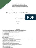 Etica Si Deontologie T1