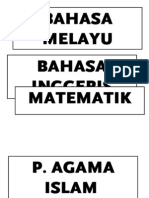 Label Matapelajaran