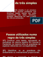 REGRA DE TRÊS SIMPLES E COMPOSTA - UNINTER 2014