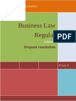 Business Law Syllabus Dispute Resolutions