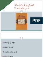 to kill a mockingbird vocabulary 2 brown book