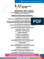 Programación del 479 aniversario de Lima