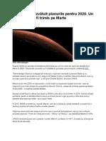 2020 NASA Trimite Un Robot Pe Marte