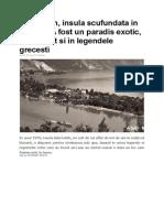 Ada Kaleh, Insula Scufundata in Dunare. a Fost Un Paradis Exotic, Mentionat Si in Legendele Grecesti